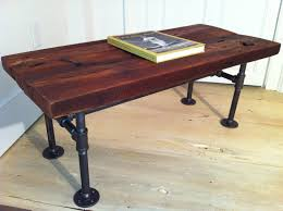 Industrial Style Coffee Table Metal Top And Wood Base Buy S Thippo with Industrial  Look Table