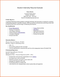 Resume For Undergraduate Internship Undergraduate Resume Template