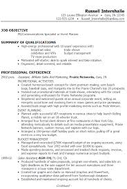 Event Planner Resume Summary Russell ...