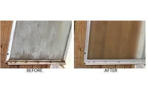 Glass Door Shower Door Before And After How To Remove Hard Water
