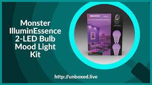 Monster Light Bulb Monster Illuminessence 2 Led Bulb Mood Light Kit Plughitz Live Unboxed
