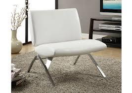 metal design furniture. I 8074 - WHITE LEATHER LOOK / CHROME METAL MODERN ACCENT CHAIR Metal Design Furniture F