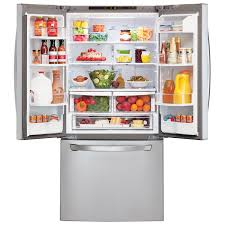 Largest Capacity Refrigerator Lg 30 218 Cu Ft French Door Refrigerator Stainless Steel