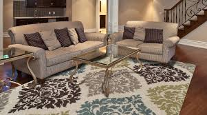 Large Living Room Rug Floral Area Rug For Living Room Design With Pinstripe Sofas And A