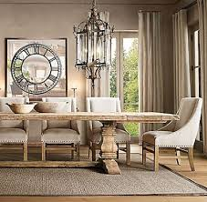 i d love for you to help me find restoration hardware s trestle salvaged wood extension dining table that doesn t require a small