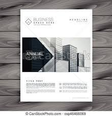 White Brochure Elegant White Brochure Design Template With Arrow Shapes