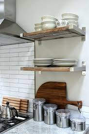 reclaimed wood fitted in brackets kitchen open shelving island on wheels floating open shelving kitchen