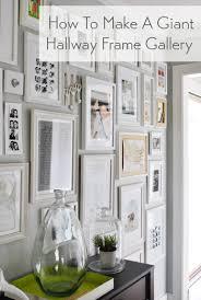 how-to-make-a-giant-hallway-frame-wall-