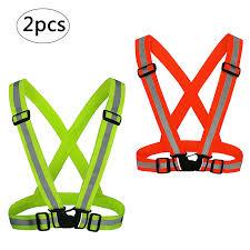 KAKOO <b>Reflective</b> Vests <b>2 pcs</b> Lightweight <b>Bright</b> Safety Vest High ...