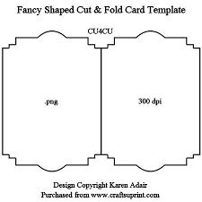 folding card template fancy shaped cut fold card template cup328982_168 craftsuprint