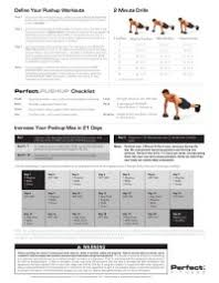 Perfect Pushup Workout Routine Chart 9 Best Images Of