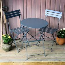 60cm round table steel garden bistro set