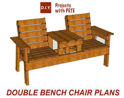 wooden high chair table combo free patio chair plans how to build a double chair bench