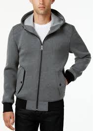 guess men s hooded knit er jacket