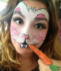 Small Picture Face Paintings by Christy Lewis Bunny face paint Bunny face and