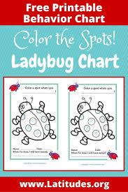 Kindergarten Behavior Color Chart Free Behavior Chart Color Ladybug Spots Behaviour Chart