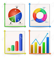 Charts And Graphs Collection Vector Illustration