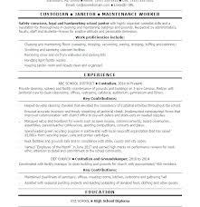 Janitorial Sample Resume Sample Resume For Custodian Download Sample