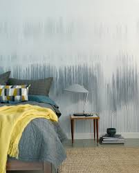 colorhouse diy watercolor wall drip technique in a blue bedroom