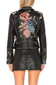 blank nyc embroidered studded moto jacket side cropped image