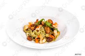 Tasty Seafood Tagliatelle Pasta ...
