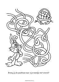 Kleurplaat Paashaas Met Eieren Spelletjes