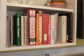 Kitchen Bookcase She Who Makes Cookbooks On My Kitchen Bookshelf