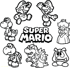 Alive Mario Brothers Printable Coloring Pages J8919 Bros Printable