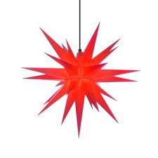 Herrnhuter Weihnachtsstern A7 Rot Aus Kunststoff Mit Beleuchtung