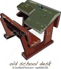 school desk. School Desk Vintage Vector