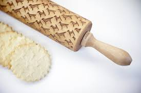 Patterned Rolling Pin Unique LaserEngraved Dog Pattern Rolling Pin From Valek Rolling Pins Dog