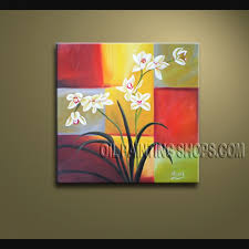 stunning contemporary wall art fl painting orchid flowers artwork