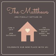 House with Heart Housewarming Invitation