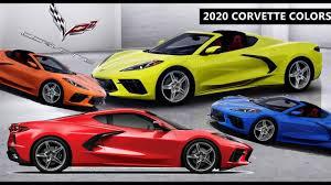 2020 Corvette Stingray C8 All Colors