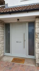 Make your home more welcoming with our Mayon composite door and glazed side  panels. Find  Modern Front ...