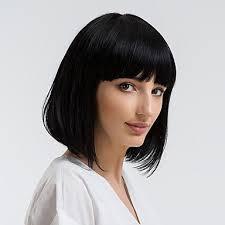 4999 Paruka Na Vlasy Bez Vlasů Přírodní Vlasy Volný Střih Bob Krátké účesy 2019 Styl Přírodní Vlasová Linie černá Bez Krytky Paruka Dámské Denní