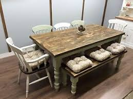image is loading farmhouse shabby chic rustic 6ft dining table chairs