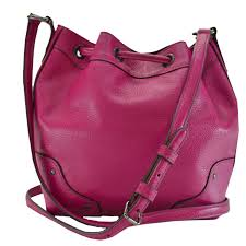 basic popularity used take a coach coach slant shoulder bag drawstring purse bag lady fluorescence pink leather