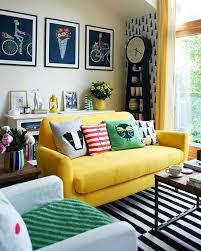 a yellow living room sofa