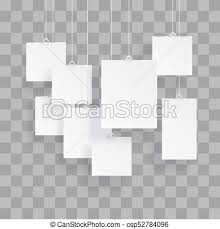 Paper Frames Templates Blank Hanging Photo Frames Or Poster Templates Isolated On Transparent Background