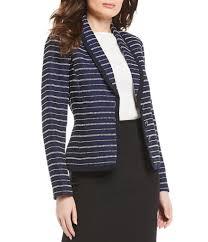 Preston York Zia Tweed Stripe Blazer
