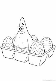 Spongebob Patrick Star Coloring Pages Easter Get Coloring Pages