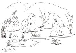 Small Picture coloring pages a small bug town bluebisonnet