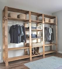 closet de madera para el dormitorio