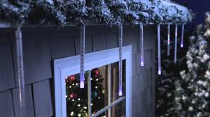 Christmas Motion Icicle Lights Philips Led Cascading Icicle Light Set 12 Count Can E