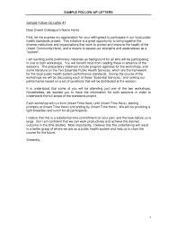 Letter Follow Up Letter Sample