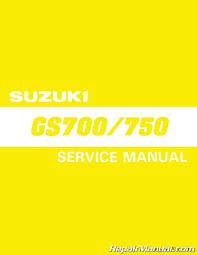1983 1985 suzuki gs700 gs750 motorcycle