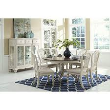 amazon hilale furniture 7 pc round dining set in old white table chair sets