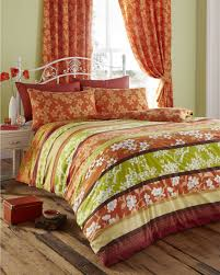 king size duvet cover set with matching curtains amber lime oriental flower co uk kitchen home