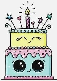 Cute Cake Drawing Cutebirthdaycakega